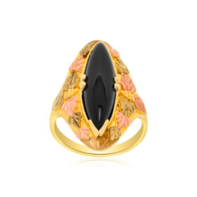 10K Yellow Gold Onyx Ring 19000000