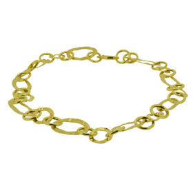 18K Yellow Gold Fancy Link Necklace 30002577