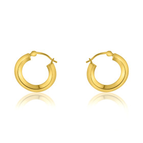 14K Yellow Gold Fancy Round Hoop Earrings 40002273