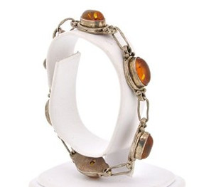 Sterling Silver Amber Antic Style Bracelet 82210056