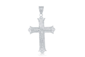 14K White Gold  Diamond Cross Charm 51000570