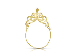 14K Yellow Gold Charm Holder 50001896