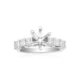 Platinum 0.49 ct Diamond Engagement Ring Setting