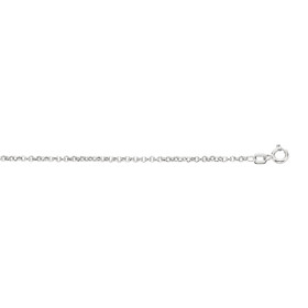 10K 16-inch White Gold 1.90mm Diamond Cut Rolo Chain with Spring Ring Clasp 080WR-16