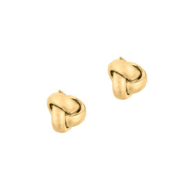 14kt Yellow Gold Shiny One Row Love Knot Post Earring ER1091