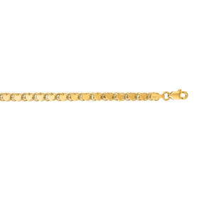 14kt 10 inch Yellow Gold 3.3mm Diamond Cut HEarRingt Chain with Lobster Clasp HC2-10