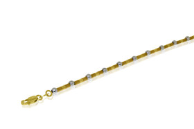 14K White and Yellow Gold Bracelet by Shin Brothers Jewelers Inc.