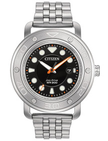 Citizen Eco-Drive AW1530-65E Mens Dual Bracelet and Strap Watch w/ Date by Shin Brothers Jewelers Inc.
