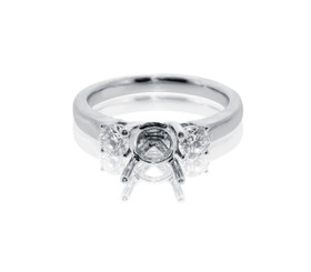 18k White Gold Diamond Engagement Ring Setting by Shin Brothers Jewelers Inc. 11005513