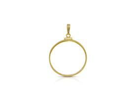 14K Yellow Gold Coin Holder Charm 50003196