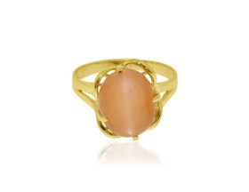 14K Yellow Gold Cat's Eye Ring by Shin Brothers Jewelers Inc.