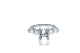 18K White Gold 6.8 Carats Diamond  Engagement Ring Setting  by Shin Brothers Jewelers Inc.