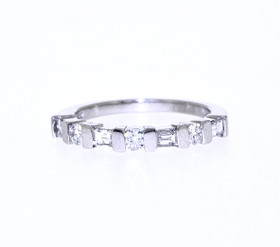 Platinum 0.50 Carat Diamond Wedding Band by Shin Brothers Jewelers Inc.