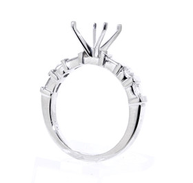 Platinum Diamond Engagement Ring Setting by Shin Brothers Jewelers Inc.