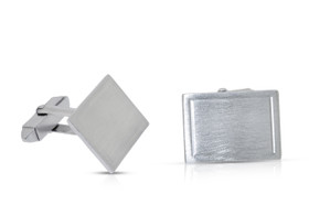 Sterling Silver Engravable Men's Cuff Links  80000609