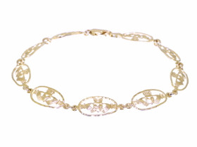 14K Yellow Gold Claddagh Bracelet By Shin Brothers Jewelers Inc.