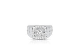 18K White Gold Diamond Men's Ring By Shin Brothers Inc.11005491