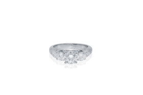 14K White Gold 0.73 Carat Diamond Engagement Ring by Shin Brothers Jewelers Inc.