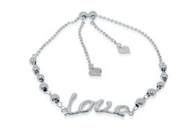 Sterling Silver Adjustable Love Beads Bracelet by Shin Brothers Jewelers Inc.