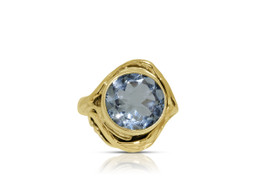 Sterling Silver Ring with Synthetic Blue Stone by Shin Brothers INC. 81210129
