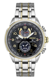 Seiko SSC508 Mens PROSPEX World Time Solar Watch w/Date By Shin Brothers Inc.