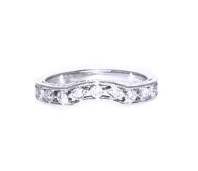 18K White Gold Diamond Wedding Band By Shin Brothers Inc.11005592