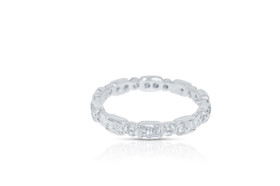 18k white gold Diamond Eternity Stackable Ring 11005448 By Shin Brothers Jewelers Inc