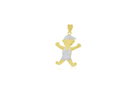 14K Two Tone Gold  Boy Charm by Shin Brothers Jewelers Inc.50003215