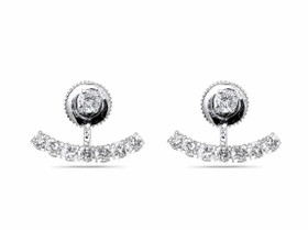 14K White Gold  Diamond Stud With Jacket Earrings by Shin Brothers Jewelers Inc. 41002112