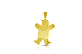 14K Yellow Gold  Boy Brush Shiny Charm by Shin Brothers Jewelers Inc.50003232