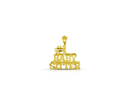 14K Yellow Gold  #1 Baby Sitter Charm by Shin Brothers Jewelers Inc.50003231