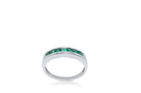 14k white gold Emerald Gemstone Ring By Shin Brothers Jewelers Inc.12002587