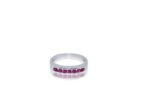 14k white gold Ruby Gemstone Ring 12002586