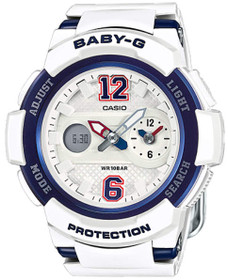 Casio Women's Baby-G BGA210-7B2 White Resin Quartz Watch 63010184