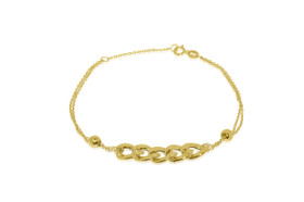 14K Yellow Gold Fancy Cuban Adjustable To 7.5'' Bracelet 20001424