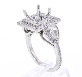 18K White Gold Fancy Diamond Engagement Ring Setting by Shin Brothers Jewelers Inc.11005454