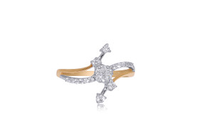 14K Yellow and White Gold Fancy Diamond Ring