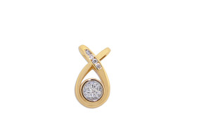14K Yellow Gold Diamond  Criss Cross Slide  by Shin Brothers Jewelers Inc. 14k