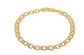 "14K Yellow Gold 7"" Charm Bracelet 20001435"