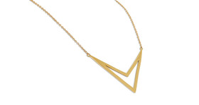 14K Yellow Gold  Layered V Necklace  30002716