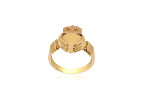 14K Yellow Gold Irish Claddagh Ring 10016195