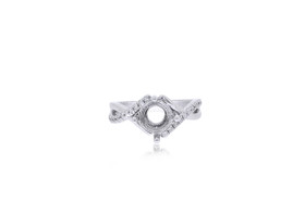 14K White Gold 0.54-carat Diamond Ring Setting