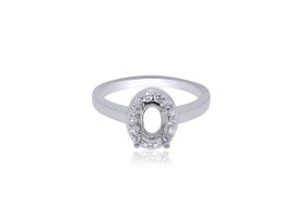 14K White Gold Diamond Engagement Ring Setting 11005655