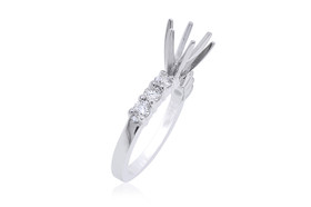 14K White Gold Diamond Engagement Ring Setting 11005640