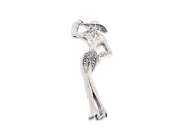Unique Sterling Silver Silhouette Pin  85010587