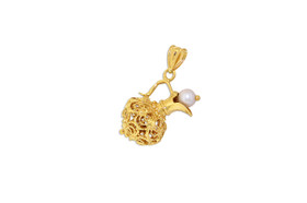 14K Yellow Gold 3D Water Jug Pearl Charm 52001909