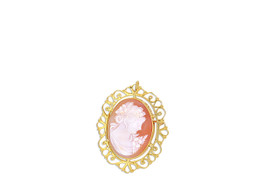 14K Yellow Gold Fancy Cameo Pin / Charm 53000080