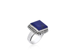 Sterling Silver Unique Lapis Ring  81210141