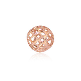 14K Pink Gold Diamond Cut Ball Charm 50003265