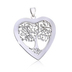 Sterling Silver Family Tree Heart Charm 85010596